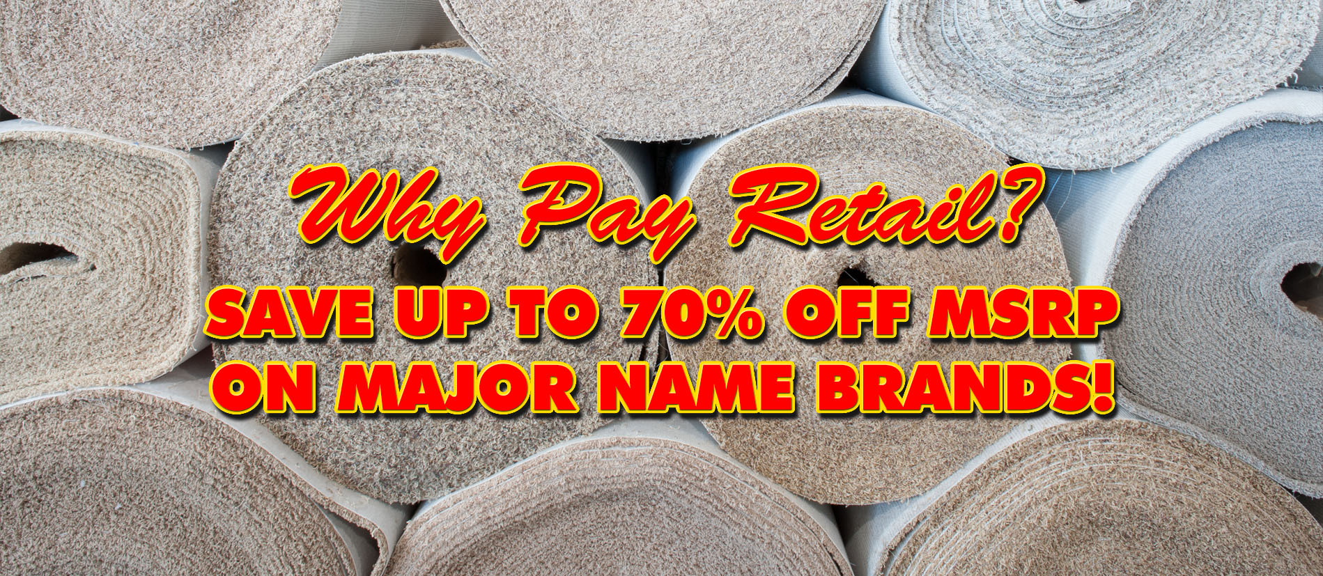 Why Pay Retail? Save Up To 70% Off MSRP On Major Name Brands!